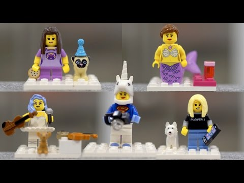 LEGO Rosanna, Cassey, Lindsey and Lilly minifigures! | iJustine