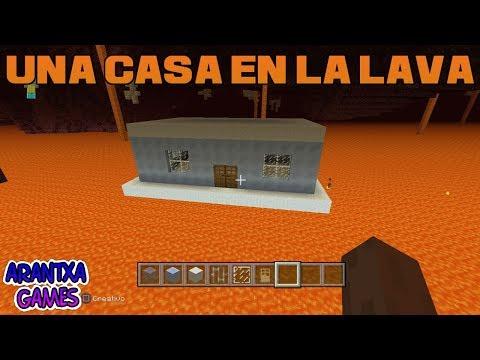 Como hacer una casa en la lava en Minecraft 🎮 Arantxa Games