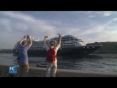 Royal Caribbean's first cruise to Cuba docks in Havana