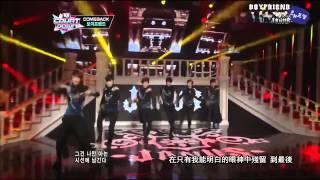 [中字LIVE] 121108 BOYFRIEND Intro + Janus / 야누스 (M Countdown Comeback stage)