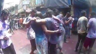 Happy Holi Part 09 2016 in Bangladesh (Shakhari Bazar Old Dhaka)