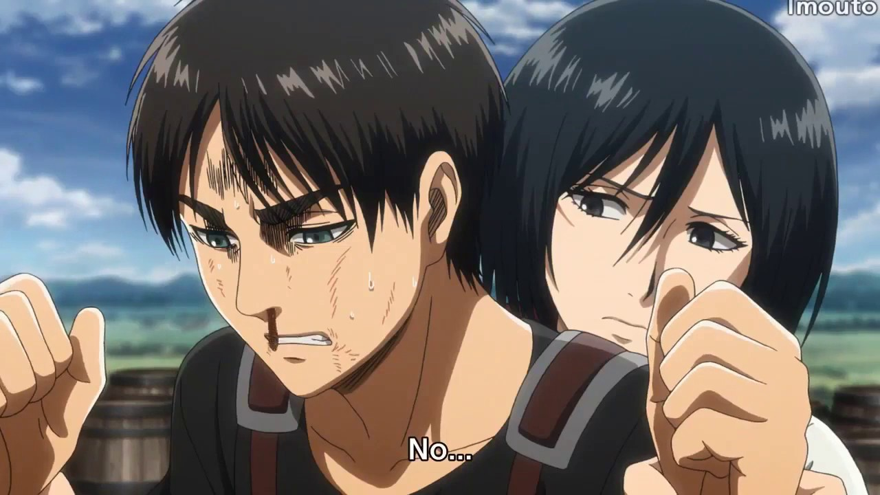 Mikasa Stops Eren From Hitting Herself Shingeki No Kyojin Season 3 Episode 9 English Subbed Youtube The anime will release its third season this summer, giving fans a chance to check in on paradis and nakatake tetsuya revealed a bit of new info about mikasa's role in the anime's third season, and it. mikasa stops eren from hitting herself shingeki no kyojin season 3 episode 9 english subbed
