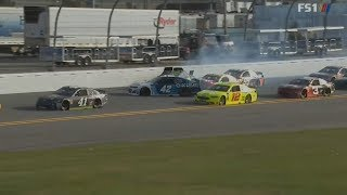 Monster Energy Nascar Cup Series 2018. Clash At Daytona. Final Laps/Multiple Crash