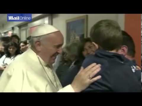 Pope Francis visits sick children