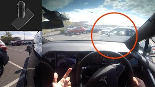 New Tesla AUTOPARK AP3 Hardware Ultimate Test - What happens when we get cut up while parking!?