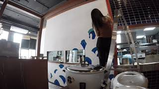 Wall Paint at Teppen Bangkok a Thailand