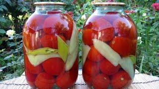 Консервация помидор (с уксусом) на зиму / Очень просто и вкусно, пошаговый рецепт