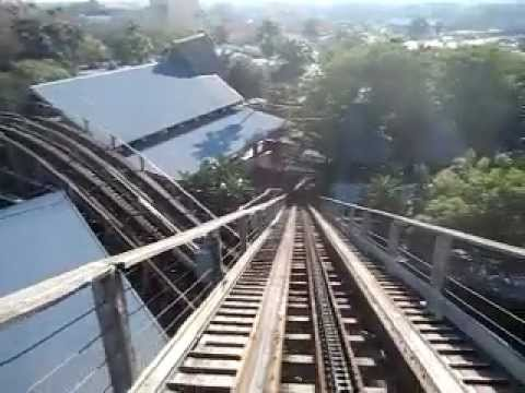 Gwazi Wooden Rollercoaster Busch Gardens Tampa Youtube