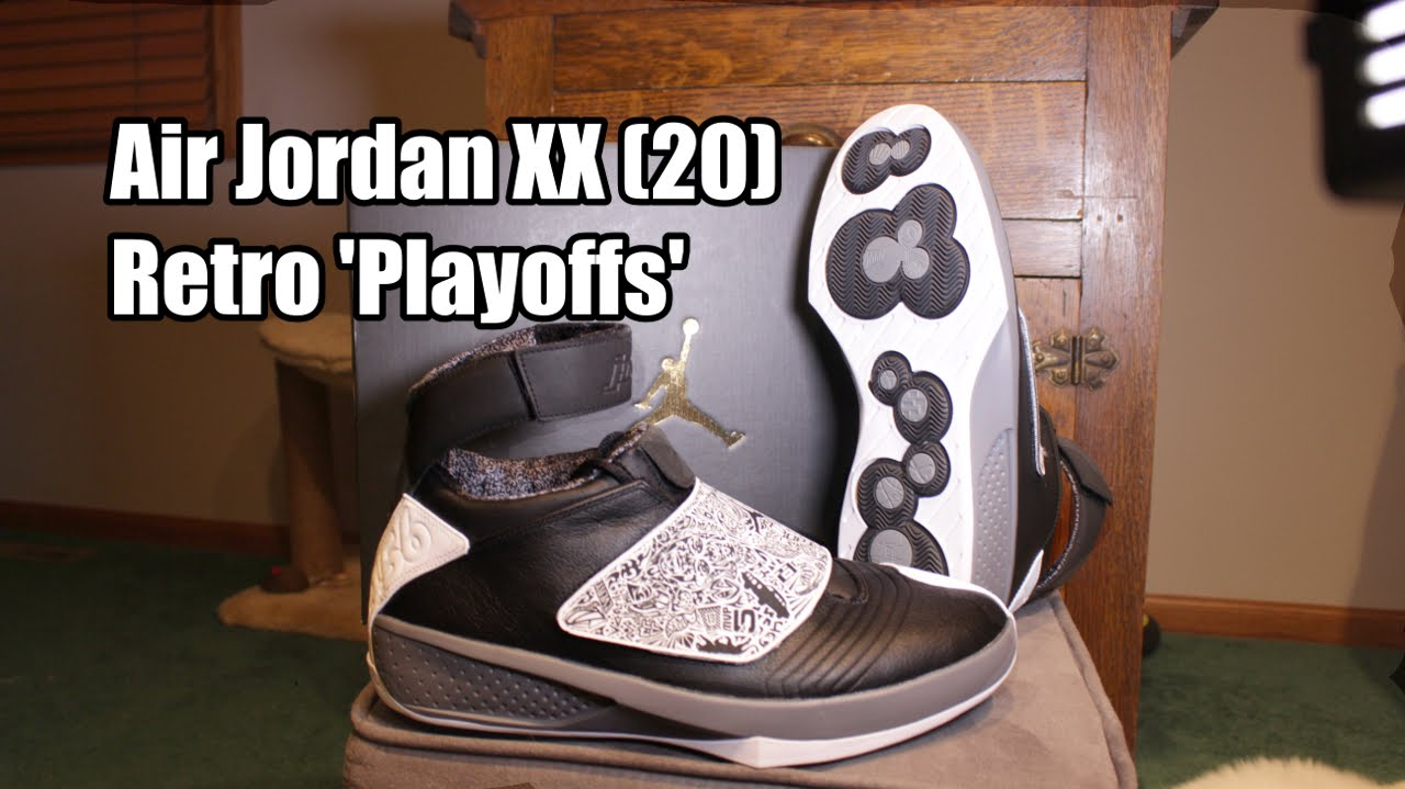 e37370bb08a33a Air Jordan XX (20)  Playoffs   Oreo  - Black White Cool Grey - YouTube