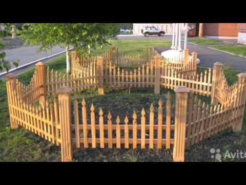 Заборчик своими руками на огороде