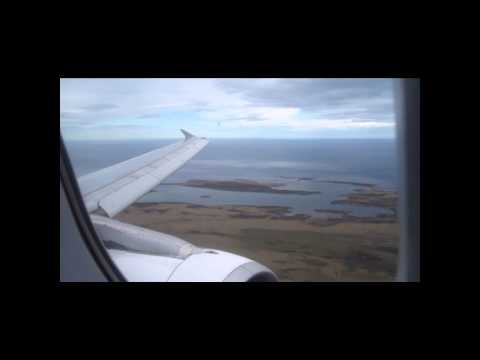 LAN A320 approach to Mount Pleasant, Falkland Islands