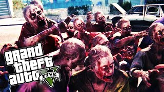 "GTA 5 PC Mods - ""Epic Zombie Survival!"" - City Zombie Mod! (Part 1)"