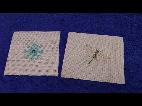 Вышивка крестом схема снежинки