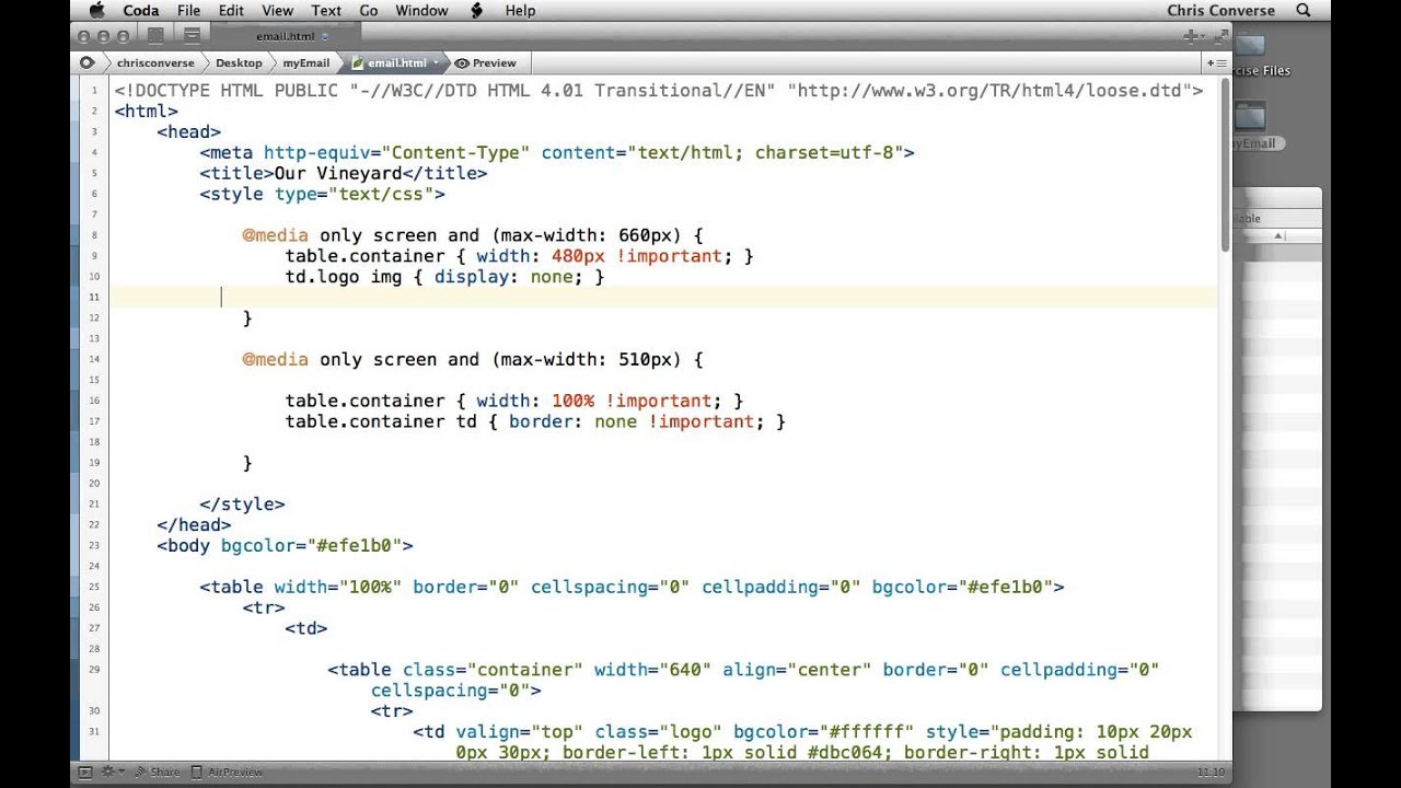 Adding Css Media Queries Into An Html Email
