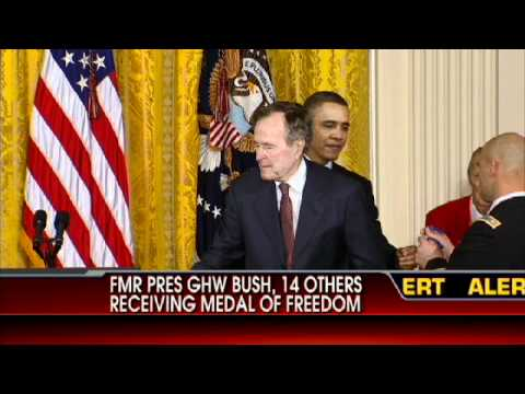 George H.W. Bush Receives Medal of Freedom