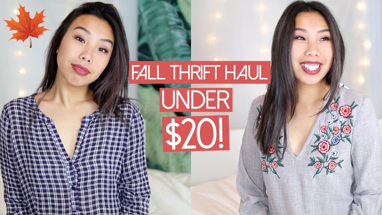 fd6d631e2a8 Thrifted Clothing Haul Under  20! Fall Try On Haul 2017