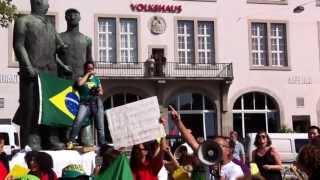 Manifestação contra a corrupção no Brasil - Zurich Suiça