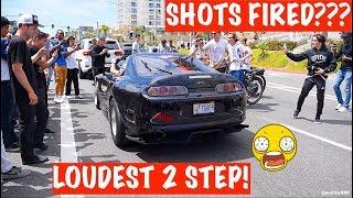 RIDICULOUS SUPRA LOUD 2 STEP ANTI-LAG Shuts Down The Street! BLACK WIDOW SUPRA