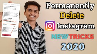 How to Delete Instagram Account Permanently 2020 / instagram Delete Kaise Kre / Delete Instagram AC