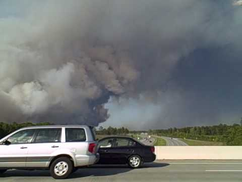 Apr 22 2009 Brush Fire in Horry County SC
