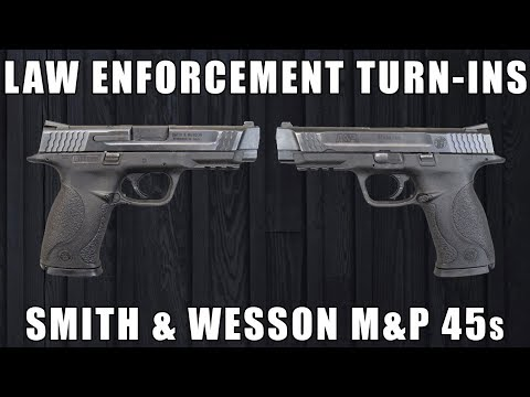 You Won't Believe The Crests On These S&W M&P 45s