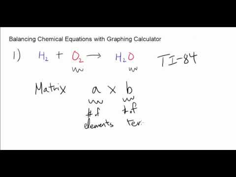 Balancing Chemical Equations using Graphing Calculator (TI-84) – with Examples!