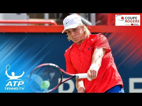 Dramatic Denis Shapovalov match point saves and win | Coupe Rogers Montreal 2017