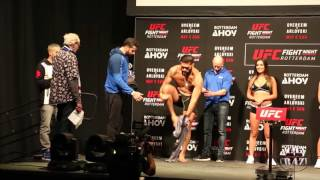 UFC Fight Night Rotterdam Stefan Struve vs. Bigfoot Silva weigh in face off