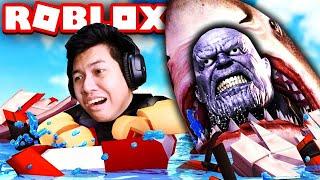 ฉลาม vs ทานอส (Roblox)