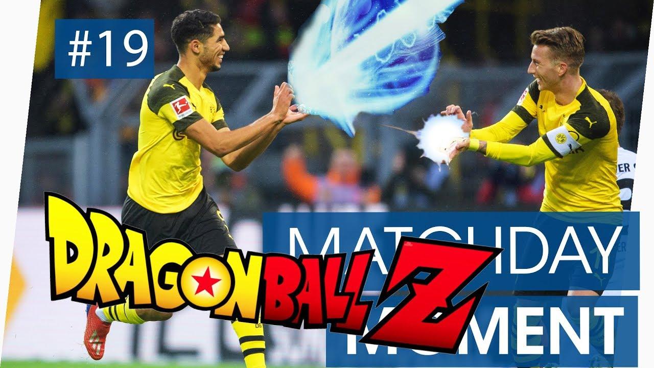 Achraf Hakimi goal for Dortmund | Dragon Ball Z celebration ⚡ KAMEHAMEHA