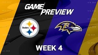 Pittsburgh Steelers vs. Baltimore Ravens | Week 4 Game Preview | NFL Playbook