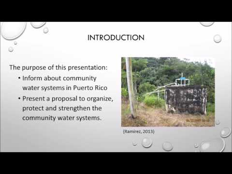 Community Water Systems in Puerto Rico