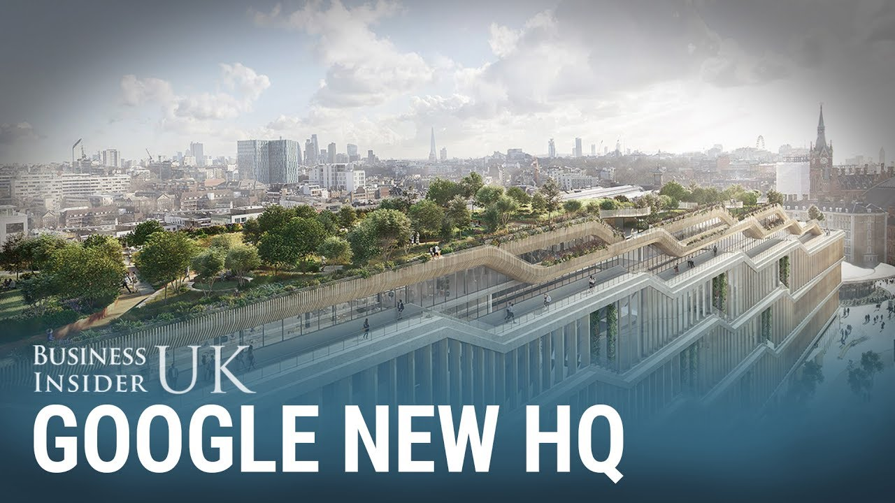 Google S New London Hq Will Have Running Tracks And A Rooftop Meadow For Its 7 000 Employees Youtube