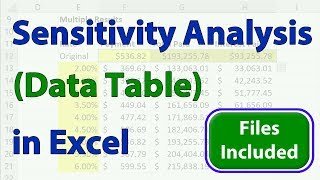 Data Sensitivity Analysis In Excel - What If Data Tables