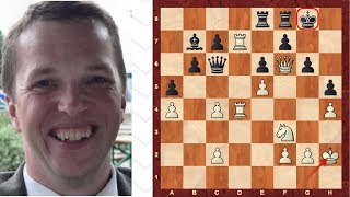 Amazing Game : Middlegame King walk! - Nigel Short Immortal Game! Alekhine Defence - Amazing