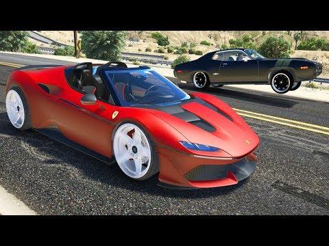 GTA V - FERRARI J50 VS AUDI RSQ (GTA 5 I, ROBOT Mods)