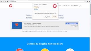 Auto thả tim facebook - Miễn phí 100%