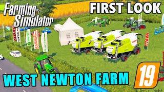 WEST NEWTON FARM   Farming Simulator 19 - FIRST LOOK!