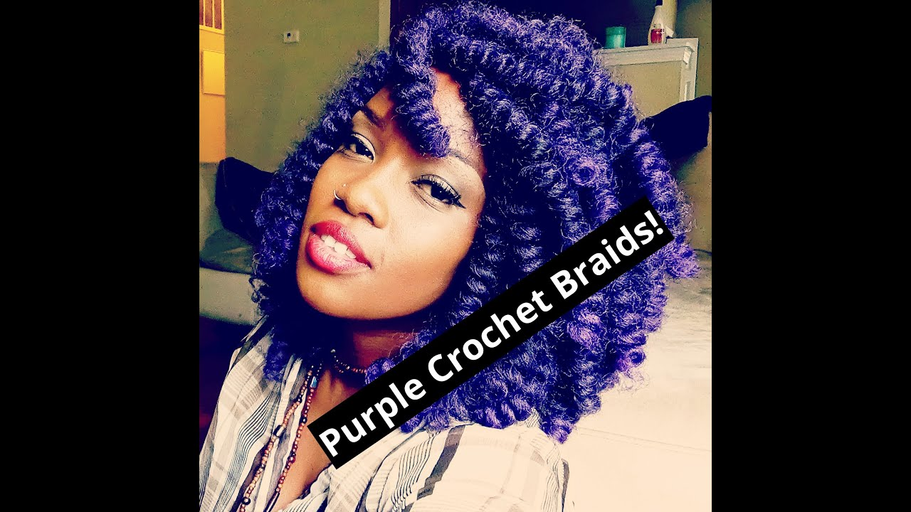 Crochet Twist Braids Youtube : Purple Montego Twist Crochet Braids! - YouTube