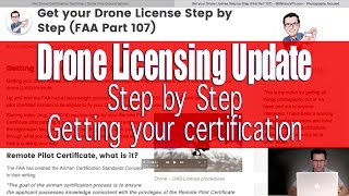 FAA Part 107 - Drone License Information Update - Commercial Drone Use