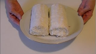 Бисквитный рулет со сметанным кремом / Sponge roulade with sour cream