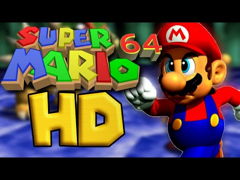 Super Mario 64 in 60 FPS Widescreen 4k resolution (hacked ROM) (interpolated)