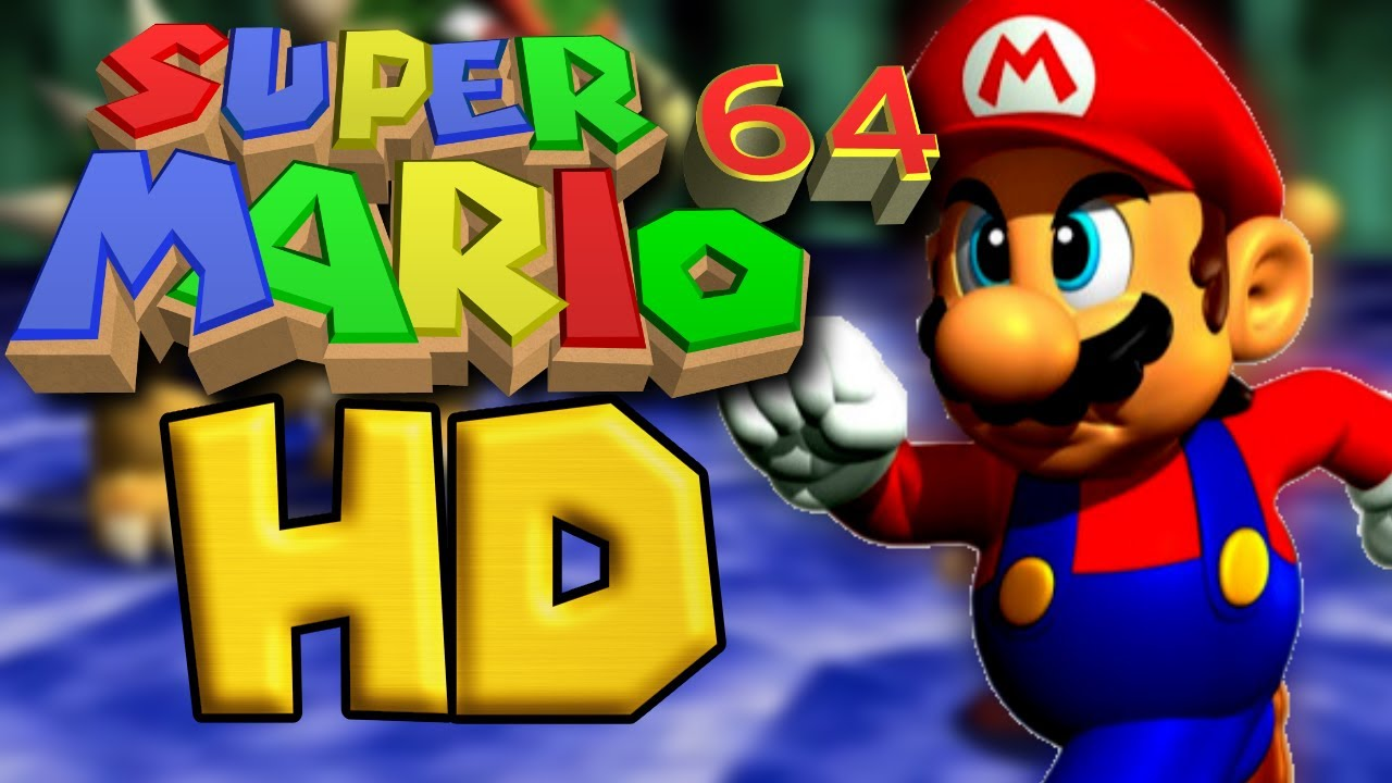 Super Mario 64 in 60 FPS Widescreen 4k resolution (modded ROM)  (interpolated)