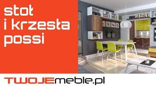 Recenzja: Stół i krzesła Possi, Black Red White - TwojeMeble.pl