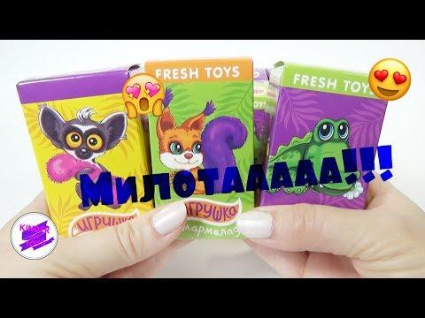 """Забавные игрушки - """"Пушистые зверюшки"""" от Фреш Тойз."""