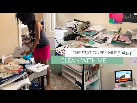 CLEANING AND DECLUTTERING THE OFFICE | THE STATIONERY MUSE