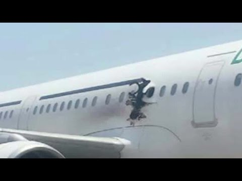 Explosion blows hole in plane over Somalia