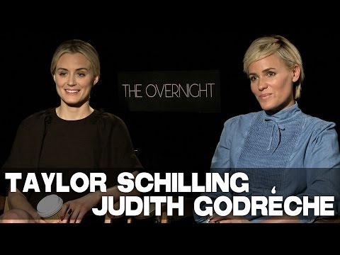 Taylor Schilling & Judith Godrèche talk THE OVERNIGHT