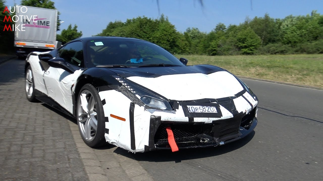 2019 KERS (HYBRID) powered Ferrari 488 Speciale/Scuderia spied testing at  the Nürburgring