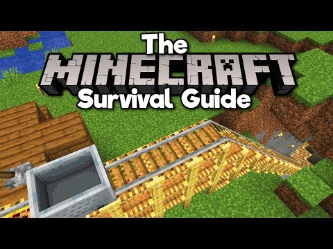 Building A Minecart Theme Park Rollercoaster! ▫ The Minecraft Survival Guide [Part 225]